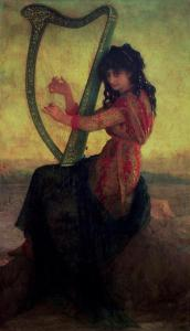 Muse-Playing-the-Harp-xx-Antoine-Auguste-Ernest-Herbert-or-Hebert